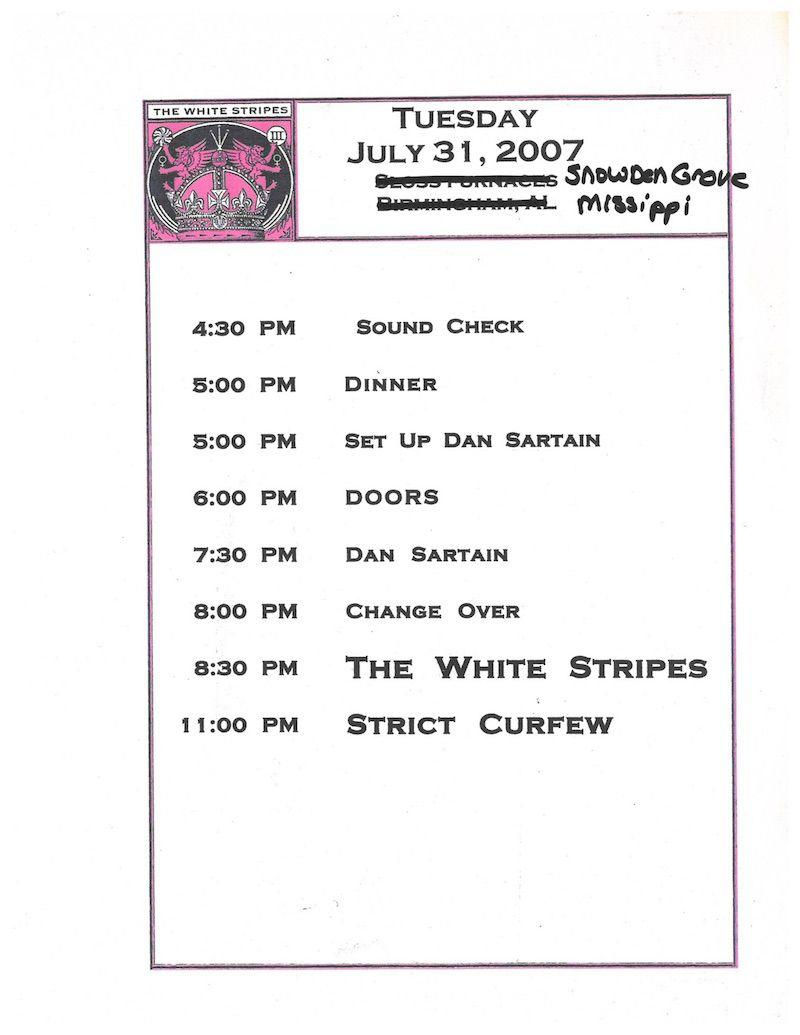 white stripes last show public day sheet 1 Audio from The White Stripes final concert released digitally: Stream