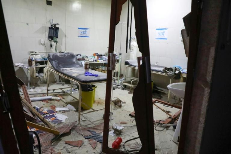 A room in a hospital damaged in a reported air strike in January on the rebel-held town of Ariha, in Idlib province (AFP Photo/AAREF WATAD)
