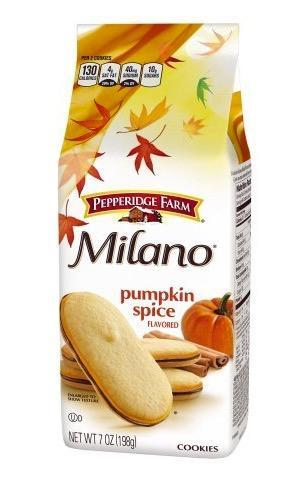 <p>Pepperidge Farm got in on the action with these pumpkin spice-flavoured Milano cookies.<br>(Amazon) </p>