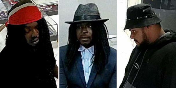 PHOTO: An image made from surveillance footage released by the New York Police Department shows three men who were caught on camera while robbing a jewelry store in Midtown Manhattan on Sunday, Aug. 25, 2019. (NYPD)