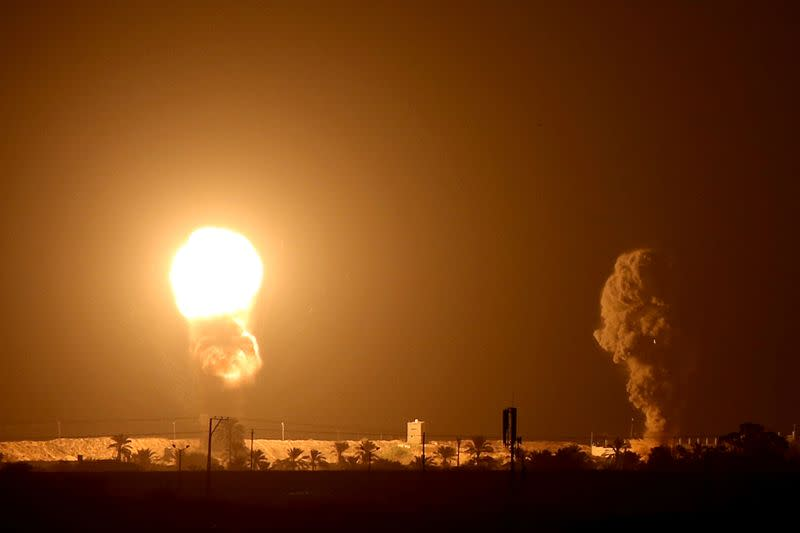 Gaza rockets, Israeli air strikes accompany Israel-Gulf pacts