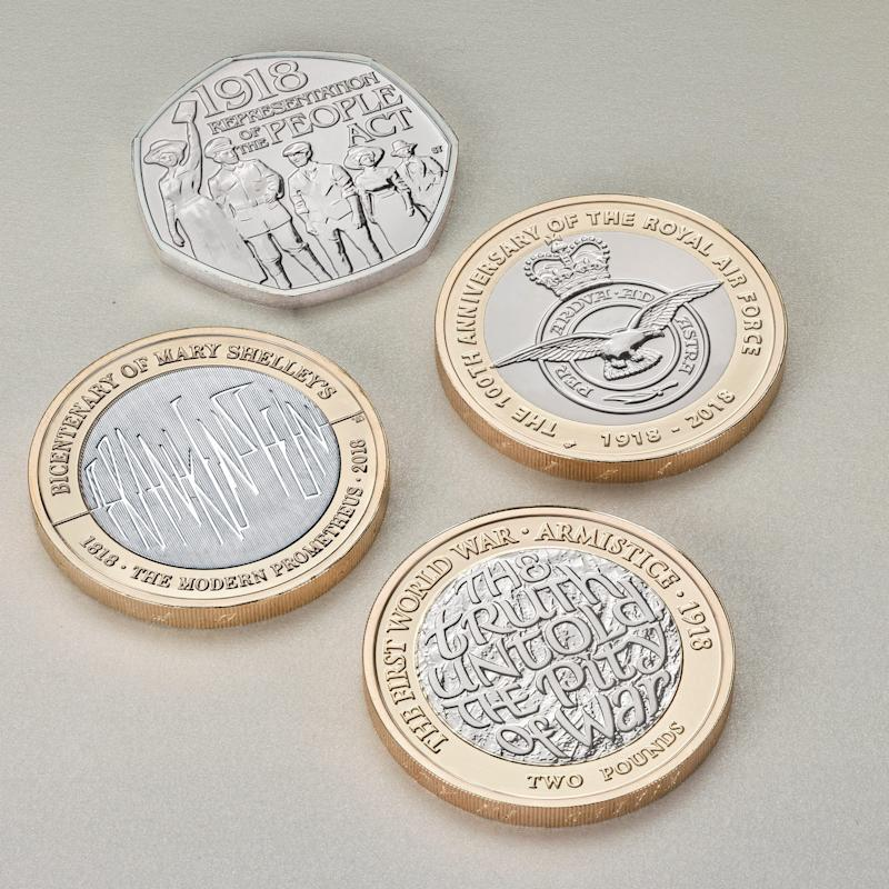 The Royal Mint has unveiled the designs of four new commemorative coins  - The Royal Mint