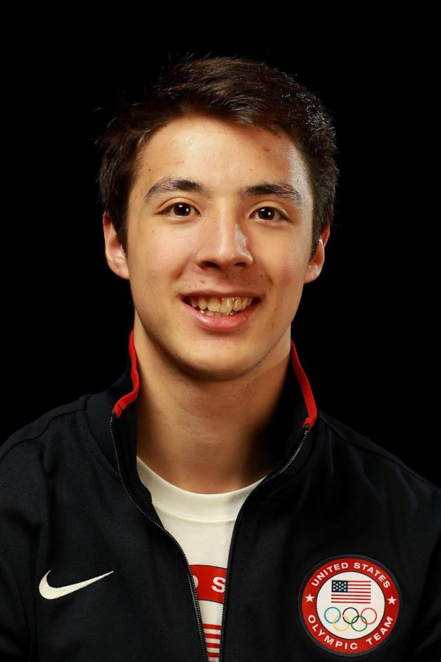 Fencer Alexander Massialas poses for a portrait during the 2012 Team USA Media Summit on May 13, 2012 in Dallas, Texas. (Photo by Ronald Martinez/Getty Images)