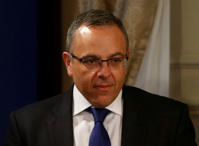 FILE PHOTO: Keith Schembri, Chief of Staff in the office of Malta's Prime Minister Joseph Muscat, arrives for a joint news conference between Muscat and President of the European Council Donald Tusk in Valletta