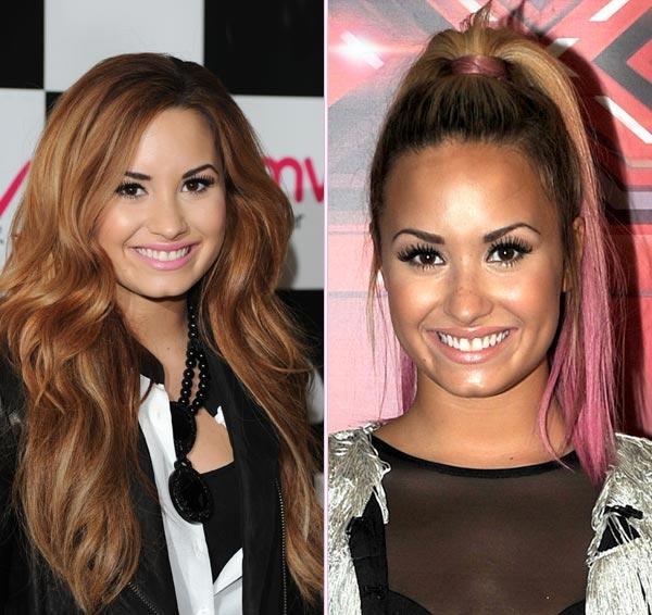 Demi Lovato's Hair Makeover: Do You Love Her Pink Ends?