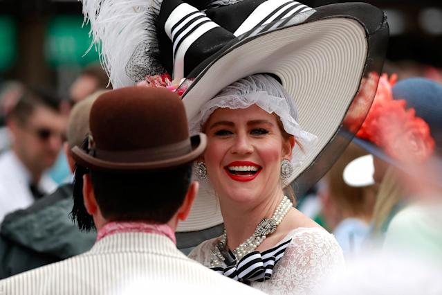 <p>A classic example of a fancy Derby hat. (Photo: Getty Images) </p>