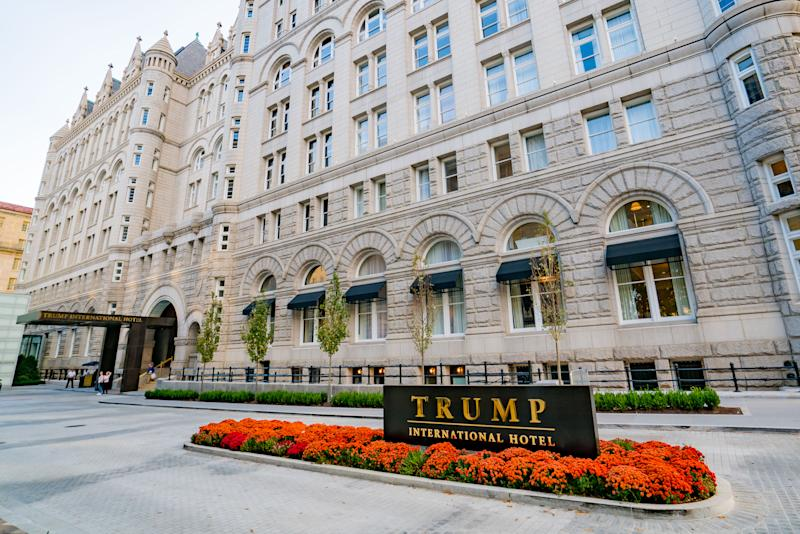General view of the Trump International Hotel Washington, D.C. at the Old Post Office on October 30, 2016 in Washington D.C., Washington D.C.