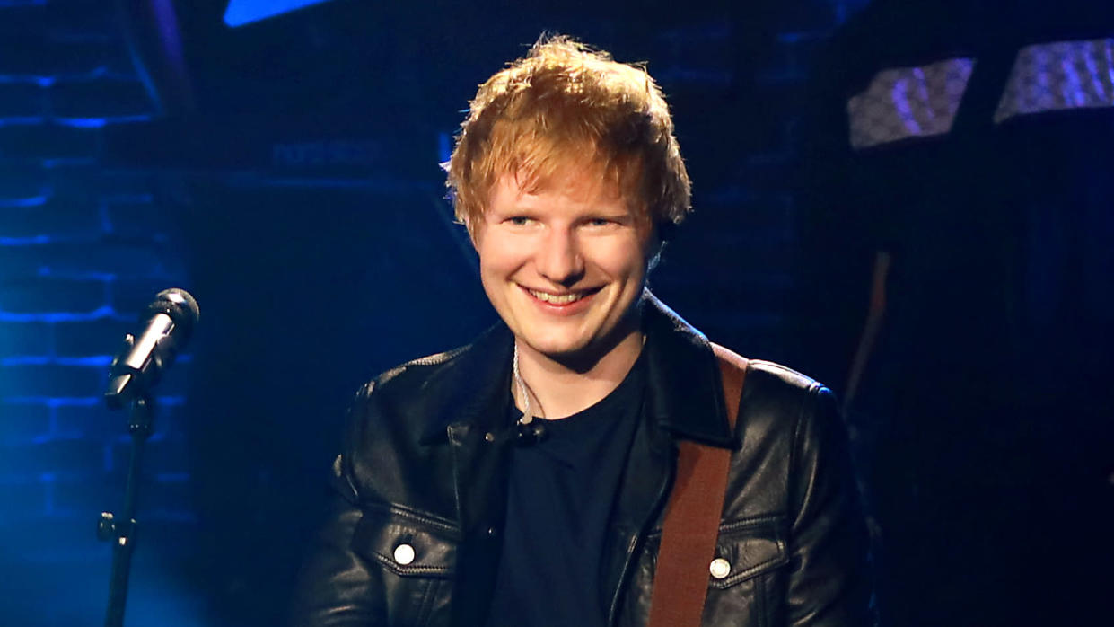 Ed Sheeran has left any rock n roll lifestyle behind since becoming a dad. (Ella DeGea/CBS via Getty Images)