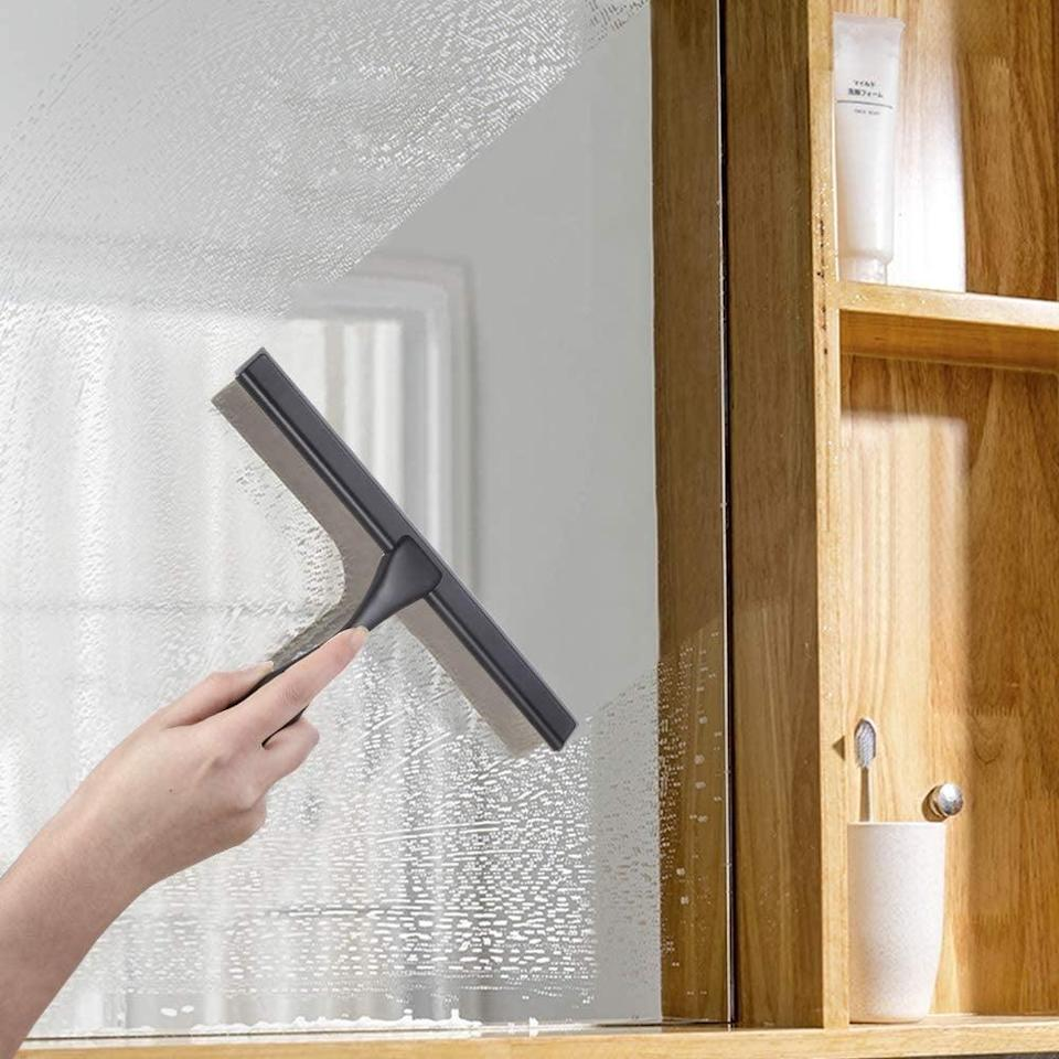 <p>Diminish water stains with the <span>Hiware All-Purpose Shower Squeegee</span> ($17).</p>