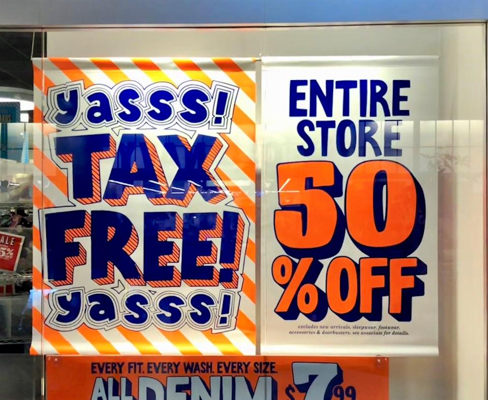 Not every item is tax free during sales tax holidays.