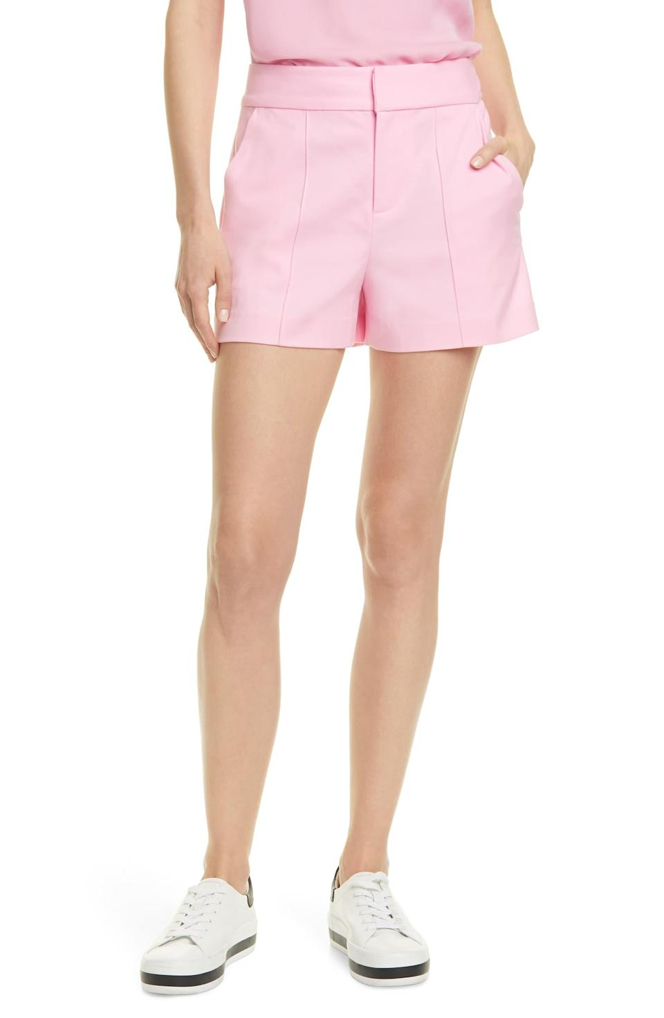 Alice + Olivia Dylan High Waist Pintuck Shorts. Image via Nordstrom.