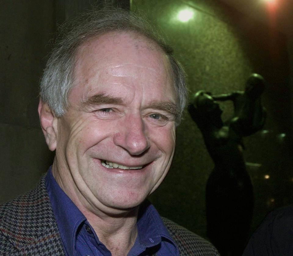 Johnny Ball arriving at the Portland Hospital, in London where his TV presenter daughter Zoe, wife to musician and DJ Norman Cook (Fat Boy Slim), gave birth to a 8lb 5oz boy at 7.10pm.   (Photo by Andrew Stuart - PA Images/PA Images via Getty Images)
