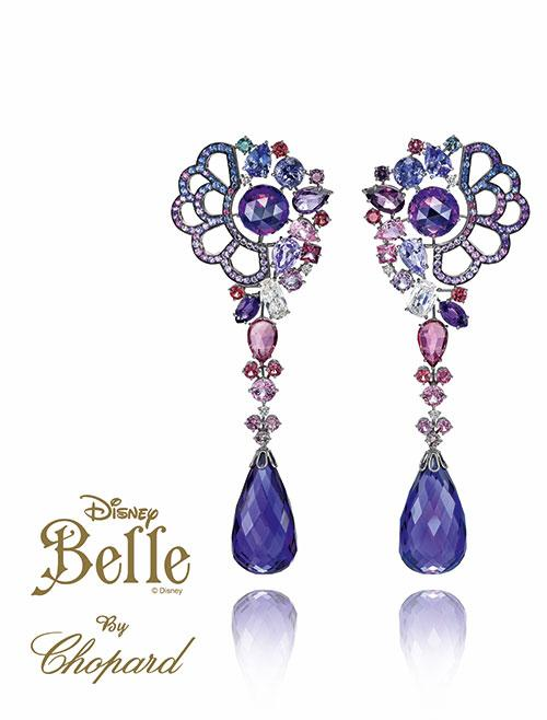 <b>Belle </b><br><br>The pear, square and round-shaped rubellites continue in the set of earrings designed by Caroline Scheufele. <br>