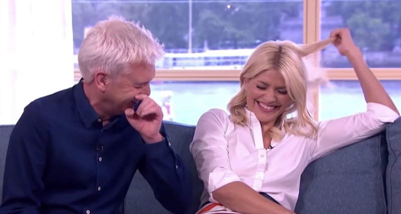 Phillip Schofield and Holly Willoughby are famous for their on-air giggling. (ITV)