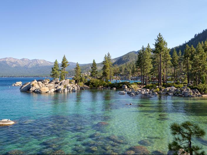 Lake Tahoe is a freshwater alpine lake located in the Sierra Nevada (Getty Images/iStockphoto)