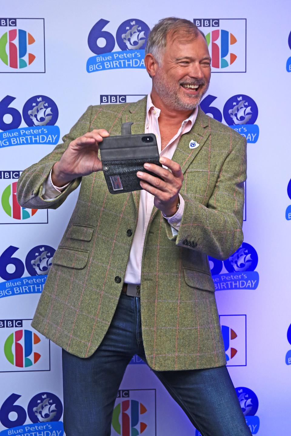 John Leslie attends Blue Peter's Big Birthday, celebrating the show's 60th anniversary, at the BBC Philharmonic Studio at Media City UK, Salford. (Photo by Peter Byrne/PA Images via Getty Images)