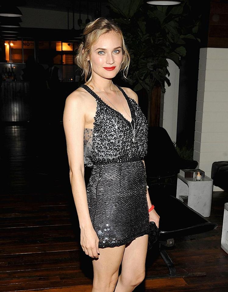 "In promoting her latest film, ""Inglourious Basterds,"" actress Diane Kruger made some headlines of her own this week when she revealed that she's tortured by Brad Pitt in the film. ""He does some terrible things to me,"" she said. Jamie McCarthy/<a href=""http://www.wireimage.com"" target=""new"">WireImage.com</a> - August 17, 2009"