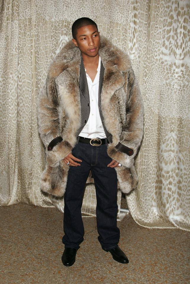 "<p>At a preview for the Metropolitan Museum's 2004 exhibition ""WILD: Fashion Untamed,"" Williams was right on theme in a bold fur coat and a black Gucci belt.</p><p>Photo by Getty Images</p>"