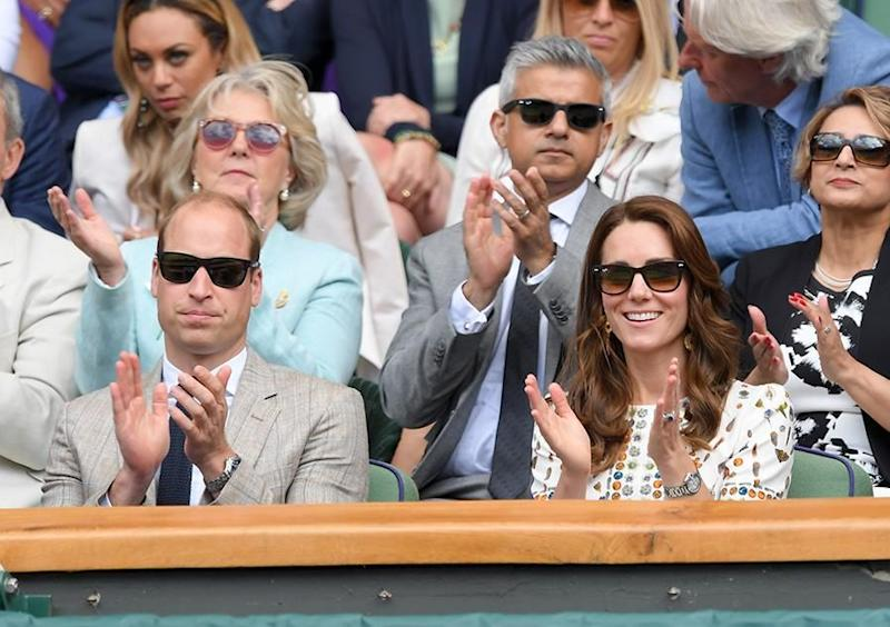 Prince William and Kate Middleton attended Wimbledon last month. Photo: Getty Images.
