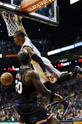 Sefolosha helps Thunder rout Phoenix again 97-69