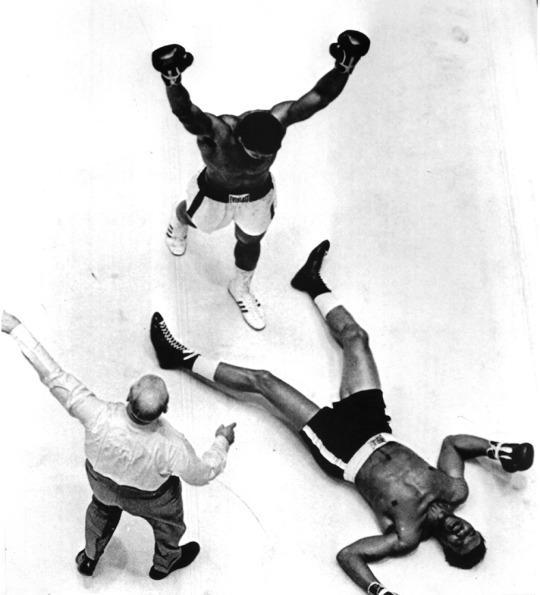 <p>HOUSTON,TX – NOVEMBER 14,1966: Muhammad Ali celebrates after knocking out Cleveland Williams during the fight at the Astrodome in Houston, Texas. Muhammad Ali won the World Heavyweight Title by a TKO 3. (Photo by: The Ring Magazine/Getty Images)</p>