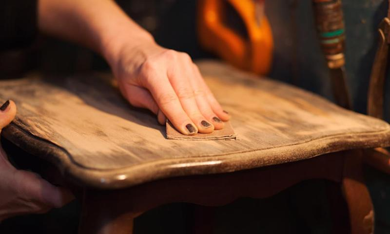'You'll need a lot of elbow grease' ... how to spruce up an old table top.