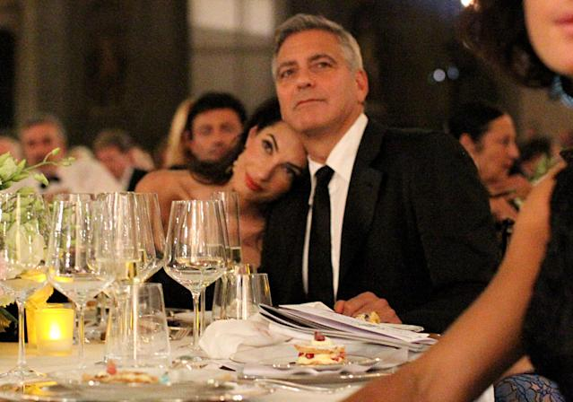 George Clooney and Amal Clooney attend the Celebrity Fight Night gala on Sept. 7, 2014 in Florence, Italy. (Photo: Rachel Murray/Getty Images for Celebrity Fight Night)
