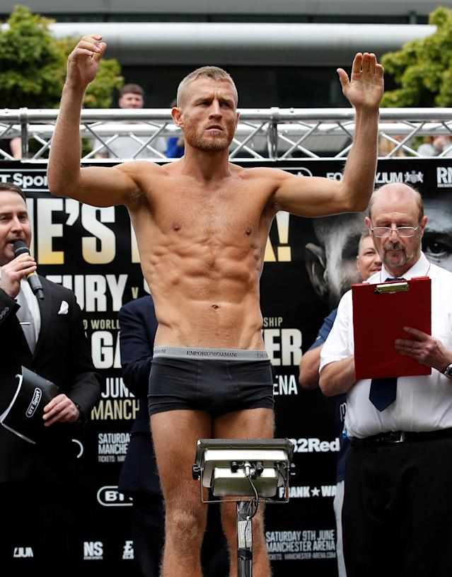 Boxing - Terry Flanagan & Maurice Hooker Weigh-In - Great Northern Amphitheatre, Manchester, Britain - June 8, 2018 Terry Flanagan during the weigh in Action Images via Reuters/Craig Brough