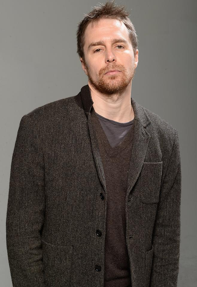 "Sam Rockwell, actor in the film ""A Single Shot"" poses at the Tribeca Film Festival 2013 portrait studio on April 25, 2013 in New York City."