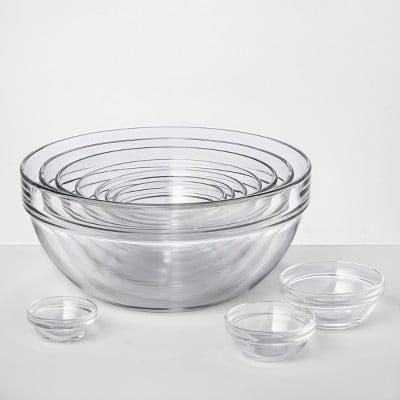 <p>You can't go wrong with these chic <span>Made by Design Set of 10 Glass Mixing Bowls</span> ($23).</p>