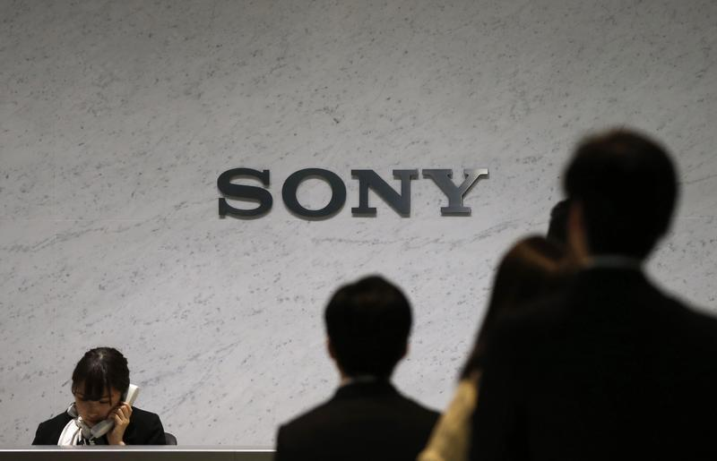 Sony Corp's logo is seen at the headquarters in Tokyo