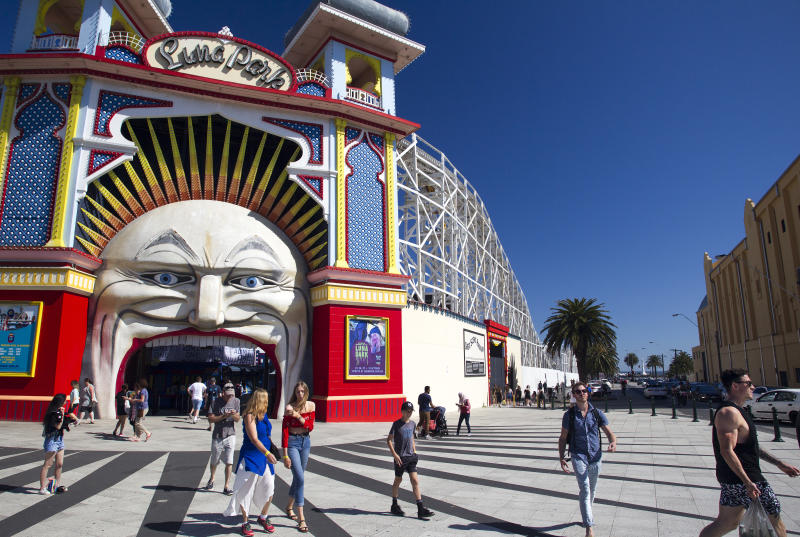 Luna Park amusements St Kilda Melbourne Australia. (Photo by: Andrew Woodley/Universal Images Group via Getty Images)