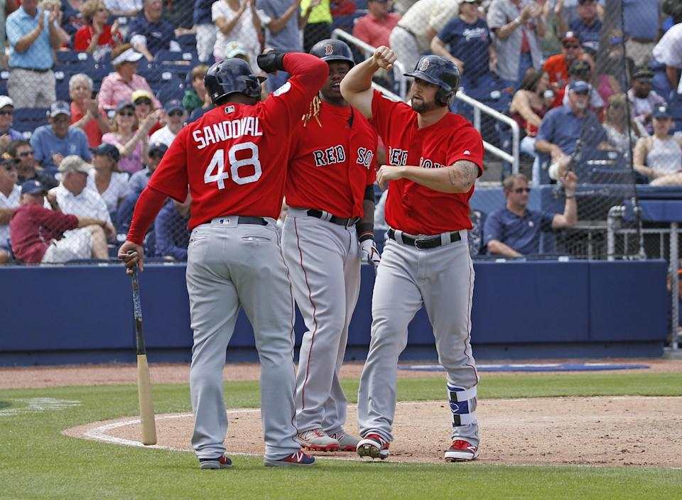 Is this the year Pablo Sandoval and Hanley Ramirez both deliver for Boston? (Getty Images)