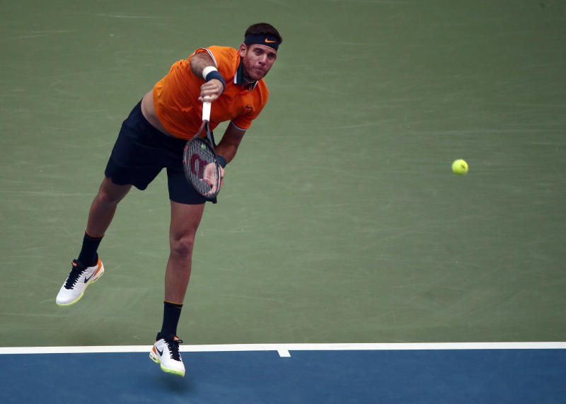 Rafael Nadal: US Open champion receives knee injury treatment against Del Potro