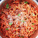"""<p>You turn to spaghetti when you have nothing else in the house and need a meal fast. Throwing everything together in the Instant Pot means you still get dinner fast (but with a homemade marinara instead of the jarred stuff). </p><p>Get the <a href=""""https://www.delish.com/uk/cooking/recipes/a34818115/instant-pot-spaghetti-recipe/"""" rel=""""nofollow noopener"""" target=""""_blank"""" data-ylk=""""slk:Instant Pot Spaghetti"""" class=""""link rapid-noclick-resp"""">Instant Pot Spaghetti</a> recipe.</p>"""