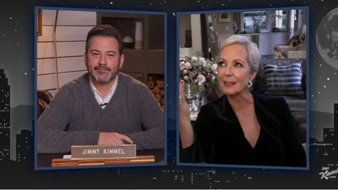 Screengrab of Allison Janney on Jimmy Kimmel Live! from YouTube