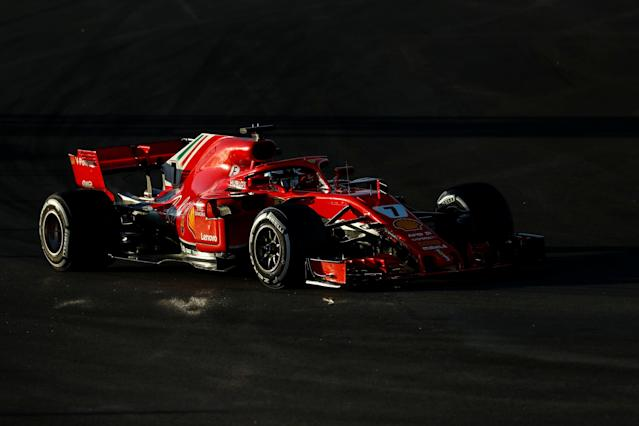 FILE PHOTO: Motor Racing - F1 Formula One - Formula One Test Session - Circuit de Barcelona-Catalunya, Montmelo, Spain - March 7, 2018. Ferrari's Sebastian Vettel during testing. REUTERS/Juan Medina/File photo