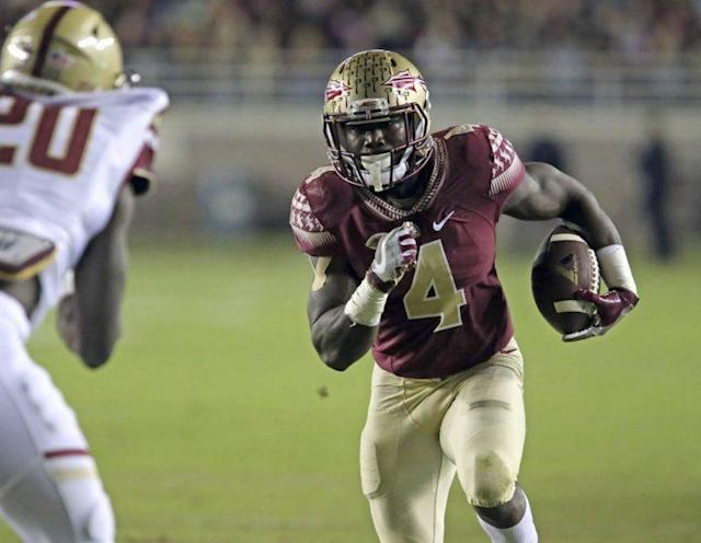 Dalvin Cook is expected to be selected in the first round of the NFL draft. (AP)