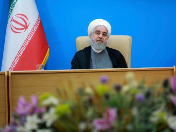 "Iranian president Hassan Rouhani said the White House was ""mentally retarded"" (AP)"