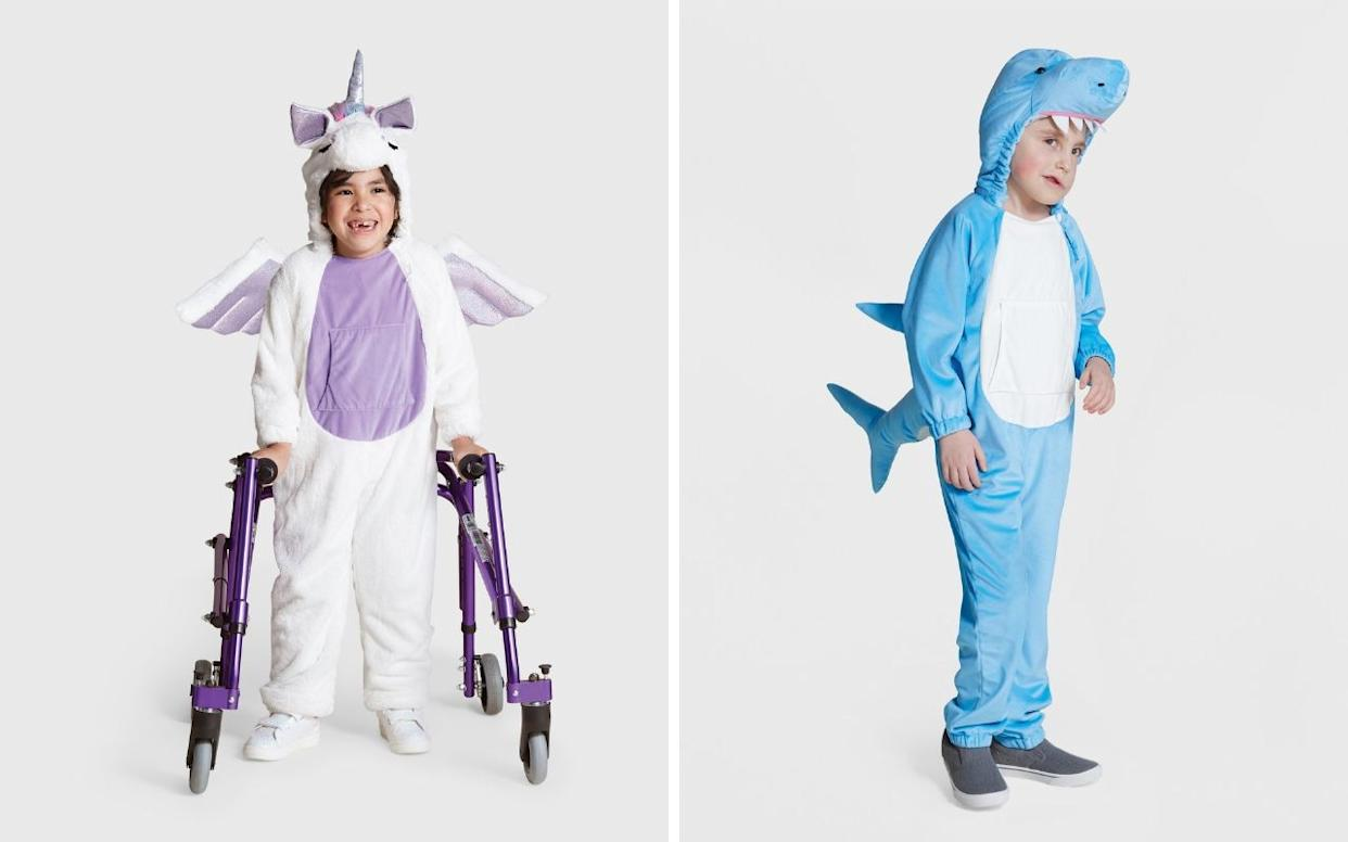 Target's adaptive unicorn and shark Halloween costumes