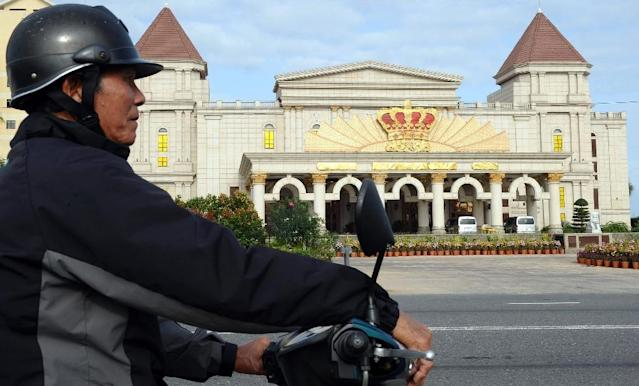 Vietnam has long barred locals from gambling of any form, allowing only a few foreigner-only casinos, such as this one in Danang (AFP Photo/HOANG DINH NAM)