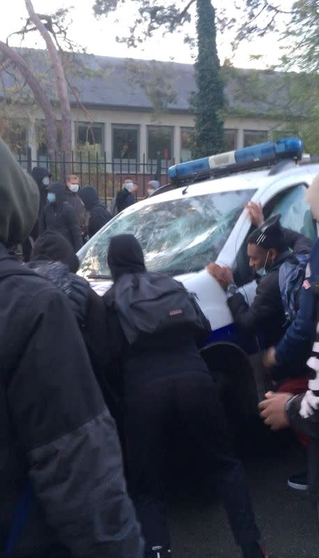 French students clash with police as coronavirus protests loom in Compiegne