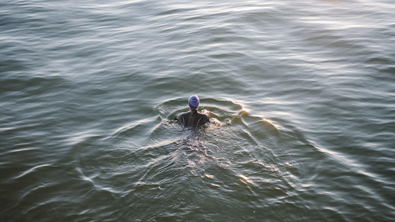 Open water swimming is great for both body and mind.