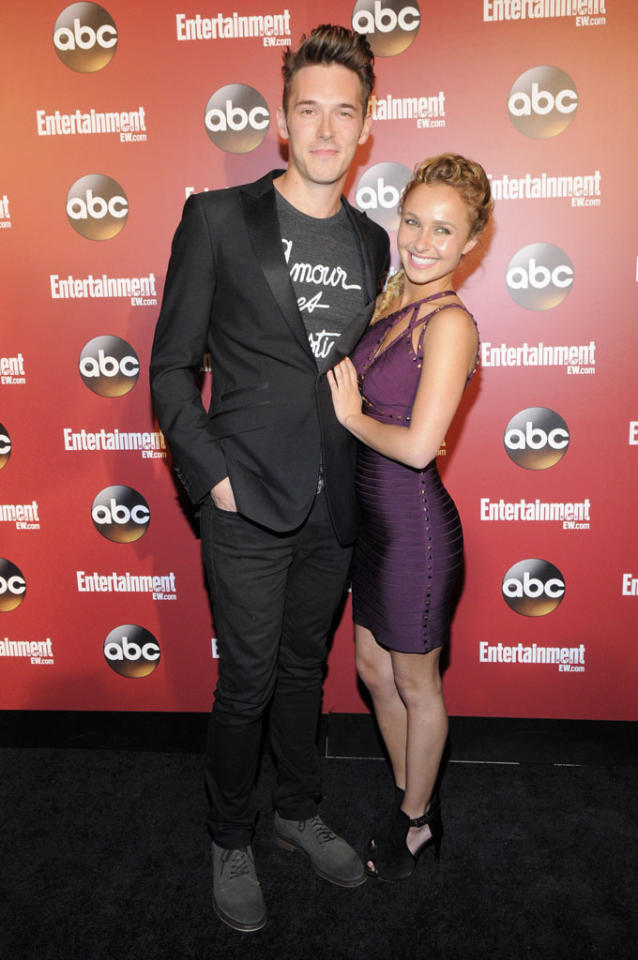 "Sam Palladio, Hayden Panettiere (""Nashville"") attends the Entertainment Weekly & ABC 2013 New York Upfront Party at The General on May 14, 2013 in New York City."