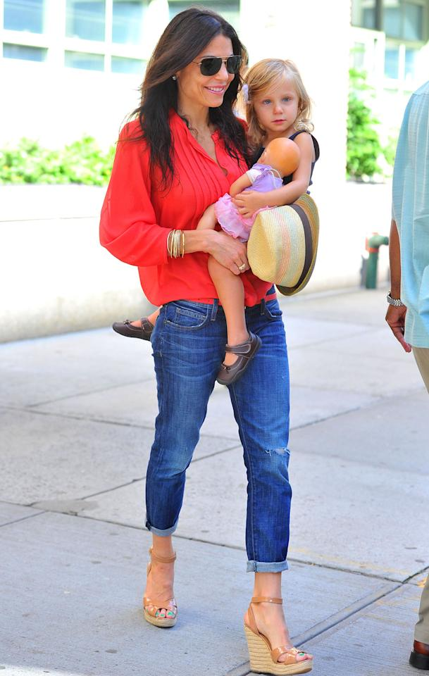Bethenny Frankel with her daughter Bryn seen out running errands in NYC