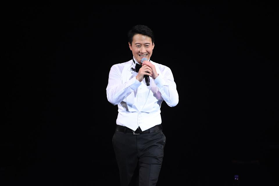 TAIWAN, CHINA - DECEMBER 14: (CHINA MAINLAND OUT)Waited for 25 years, Leon Lai finally held the concert at Taipei Arena on 14 December, 2019 in Taipei,Taiwan,China.(Photo by TPG/Getty Images)
