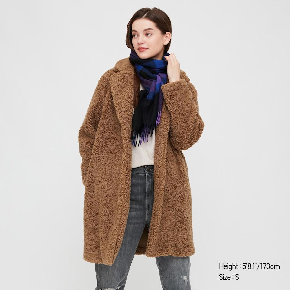 "<h2>Uniqlo</h2><br><strong>Dates: </strong>Nov. 20 - 30<br><strong>Sale: </strong>Black Friday deals on down, fleece, and winter essentials<br><strong>Promo Code: </strong>None<br><br><em>Shop <strong><a href=""https://www.uniqlo.com/us/en/women/limited-time-offers"" rel=""nofollow noopener"" target=""_blank"" data-ylk=""slk:Uniqlo"" class=""link rapid-noclick-resp"">Uniqlo</a></strong></em><br><br><strong>Uniqlo</strong> Pile-Lined Fleece Tailored Coat, $, available at <a href=""https://go.skimresources.com/?id=30283X879131&url=https%3A%2F%2Fwww.uniqlo.com%2Fus%2Fen%2Fwomen-pile-lined-fleece-tailored-coat-428333.html"" rel=""nofollow noopener"" target=""_blank"" data-ylk=""slk:Uniqlo"" class=""link rapid-noclick-resp"">Uniqlo</a>"