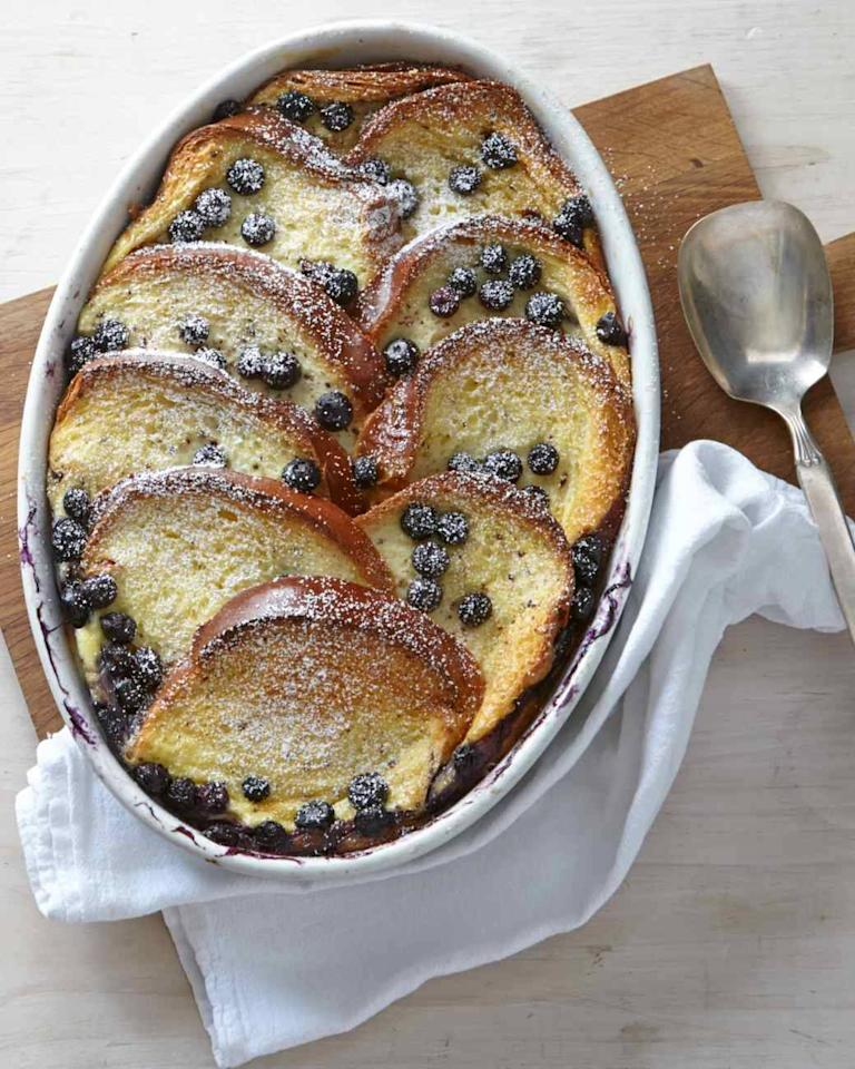 12 easy breakfast casseroles perfect for any time of day pjuicy blueberries hide between the custardy layers of this make ahead brunch ccuart Image collections