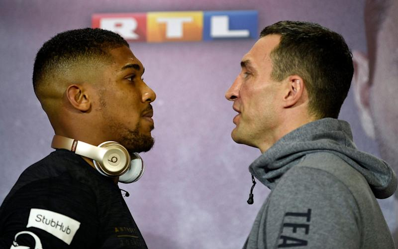 At last, it's nearly time for Anthony Joshua vs Wladimir Klitschko - EPA