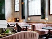<p>The Ned is the latest trendiest place in town, and with nine restaurants each superbly decorated it's easy to see why. We suggest going with your girly side and heading to the powder pink Millie's Lounge for a spot of brekkie or brunch. <em>[Photo: The Ned]</em> </p>